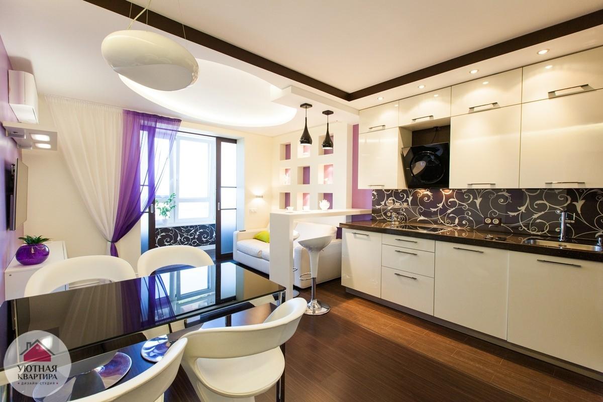Гостиная столовая кухня 20 кв.м дизайн