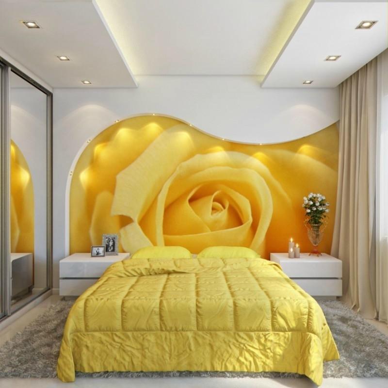 Фотообои для спальни фото 50 прекрасных интерьеров спален с фотообоями