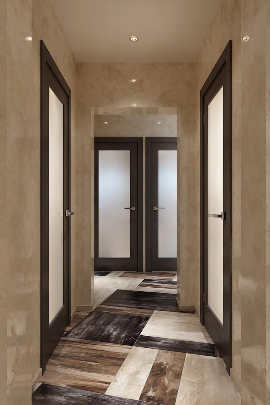 Дизайн коридора в квартире 7 кв