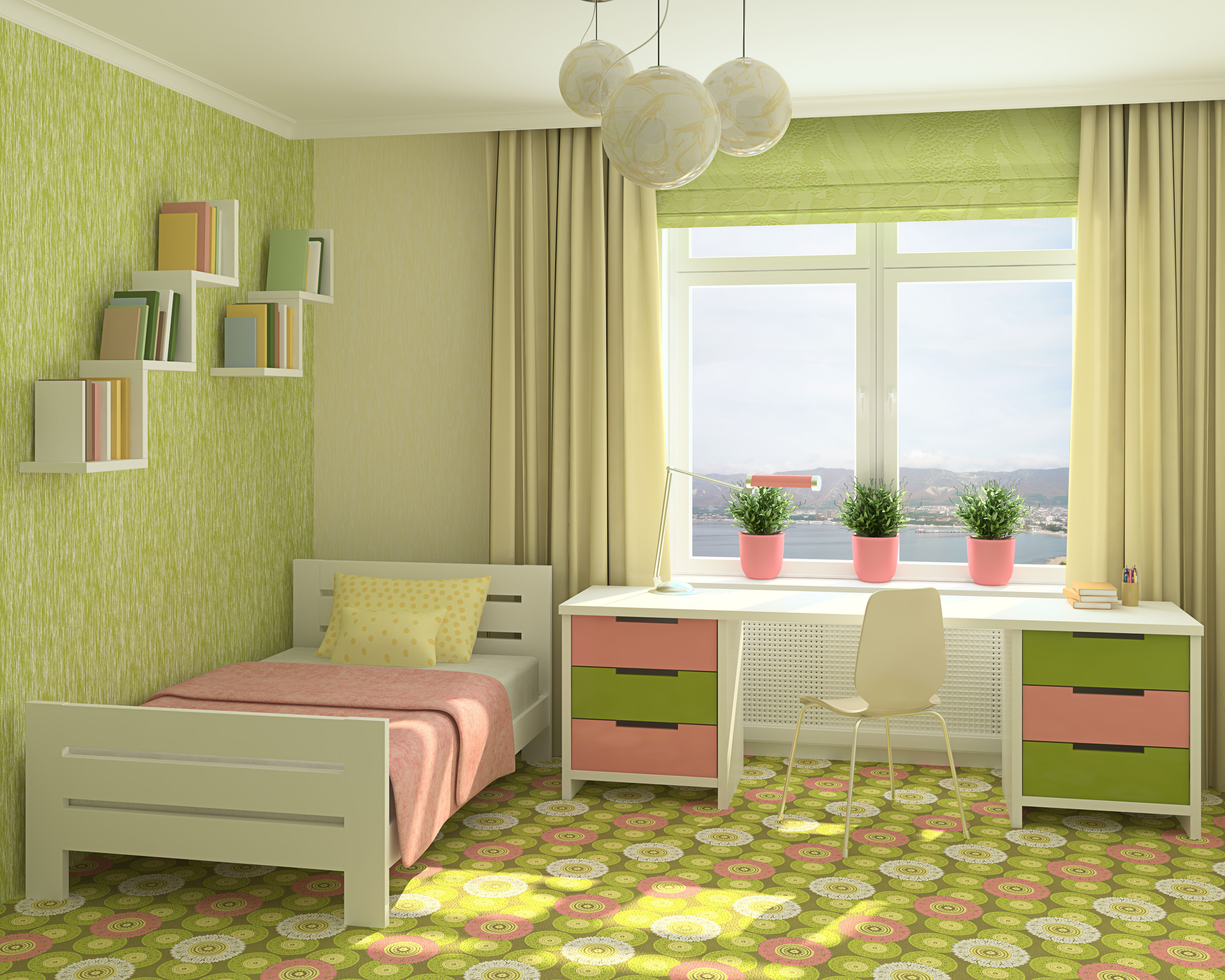 Цвет стен в детской комнате интерьер дома.