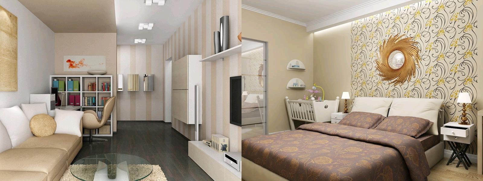 Фото дизайна 2 комн квартиры