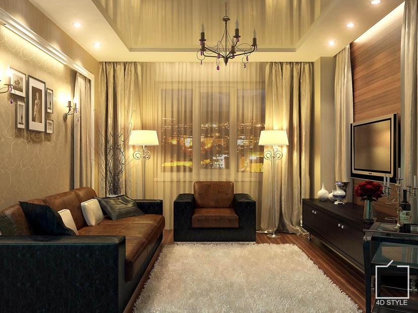 Фото интерьер 2-х комнатных квартир
