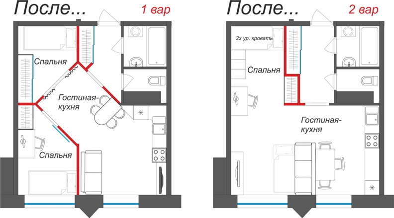Как сделать из однокомнатной квартиры двухкомнатную? - Сундук
