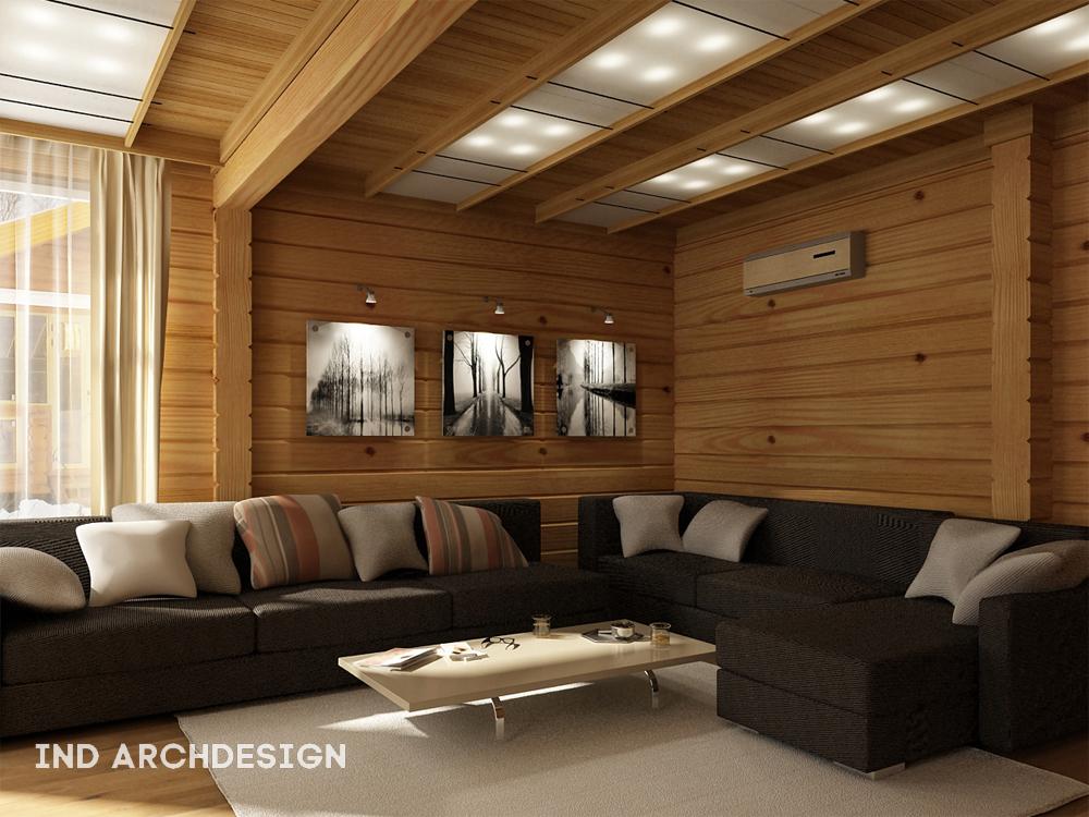 Интерьеры домов из клееного бруса фото внутри