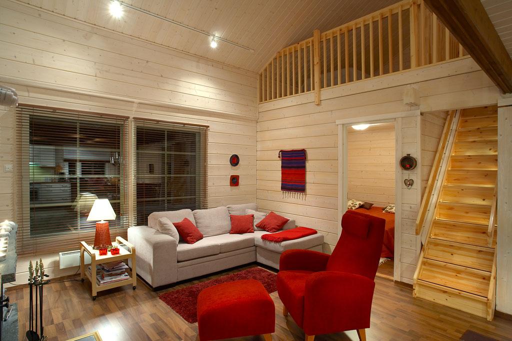 416Фото дизайн интерьера дома из клееного бруса