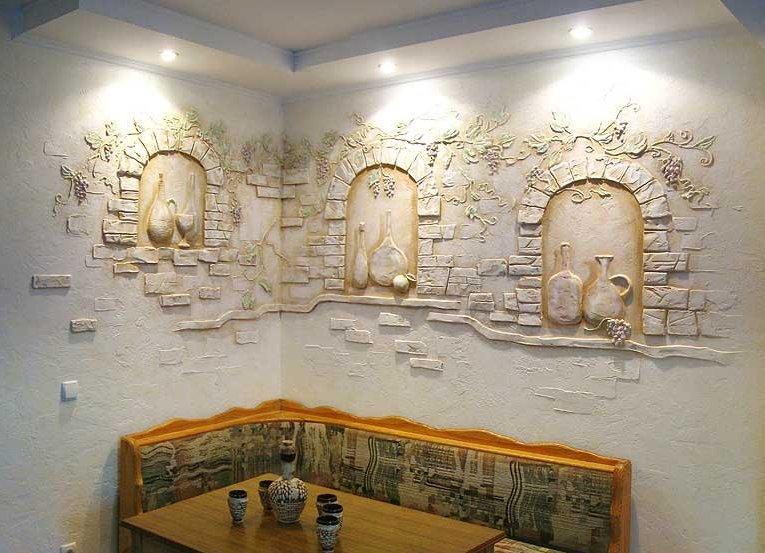 Гипсовые декор камни своими руками
