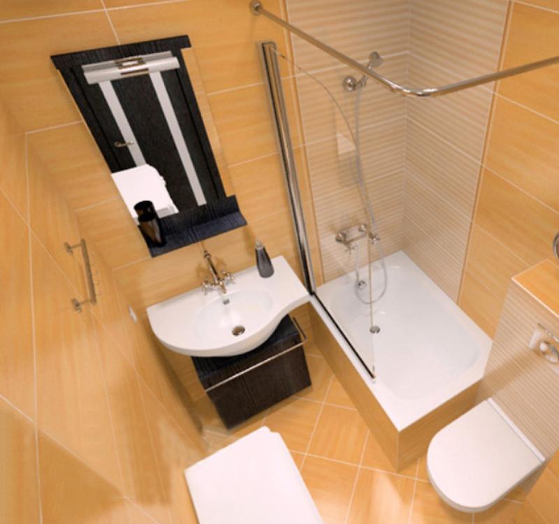 Дизайн ванной комнаты 3 кв.м с душевой кабиной и унитазом