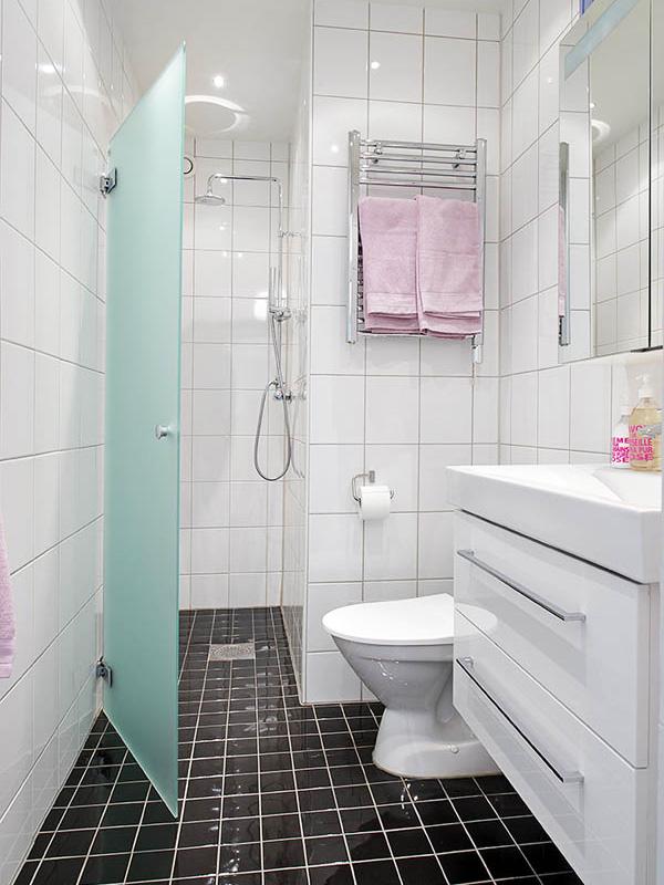 Интерьер ванная комната с душевой кабиной фото