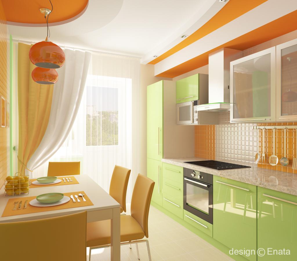 Сочетание цветов в интерьере кухни: на что влияет цветовая г.
