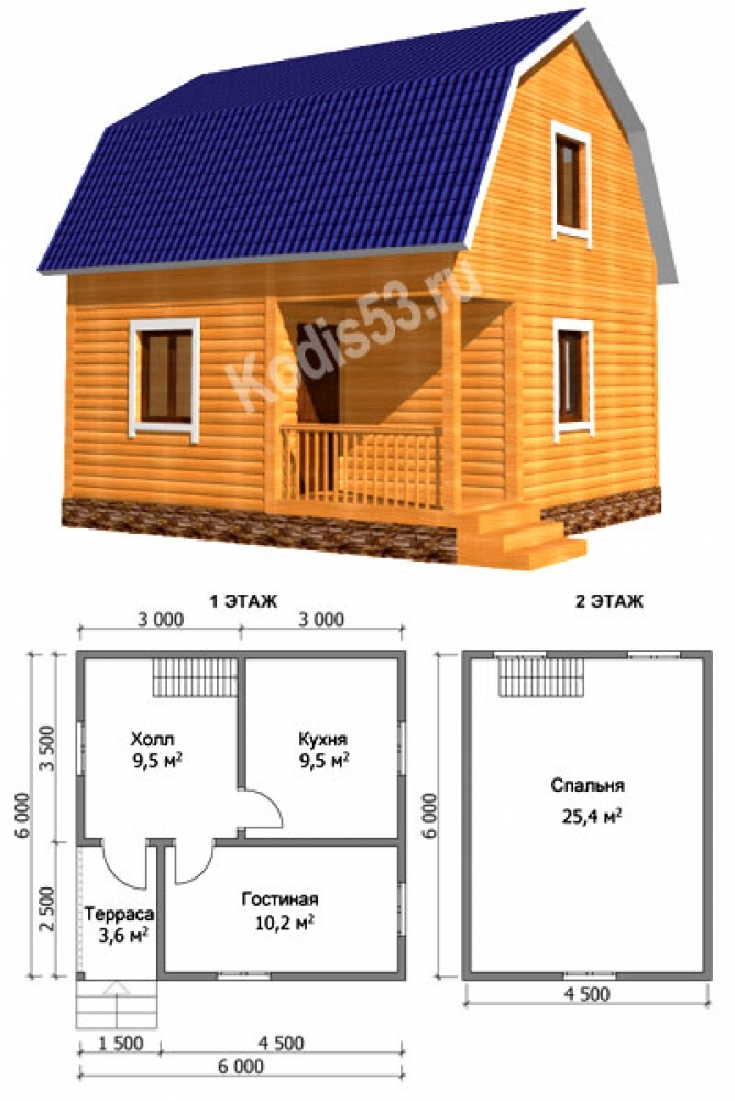 Строим дом 6 на 6 своими руками