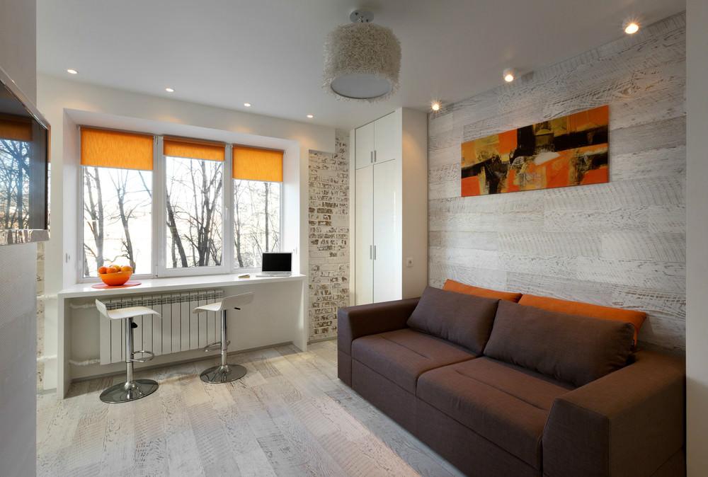 """Дизайн маленькой квартиры 33 кв.м """" Картинки и фотографии дизайна квартир, домов, коттеджей"""