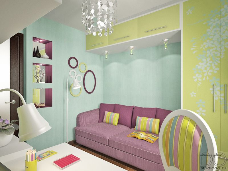 Маленькая спальня дизайн 6 кв м детская