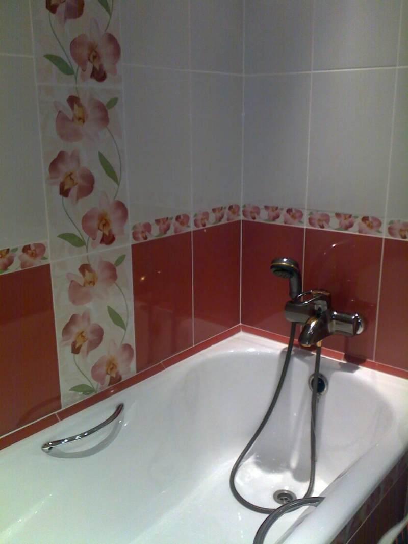 Ремонт ванной плиткой в хрущевке