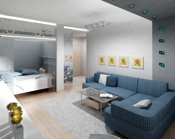 Дизайн ниши в 1 комнатной