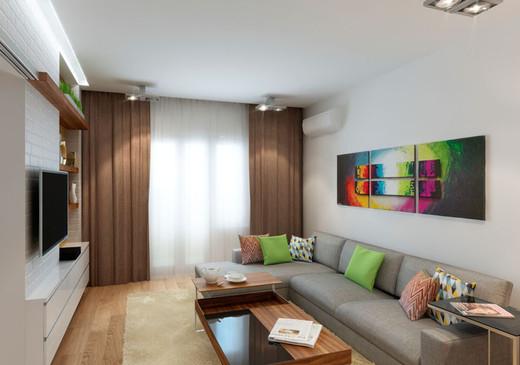 Современный дизайн гостиной 18 квм