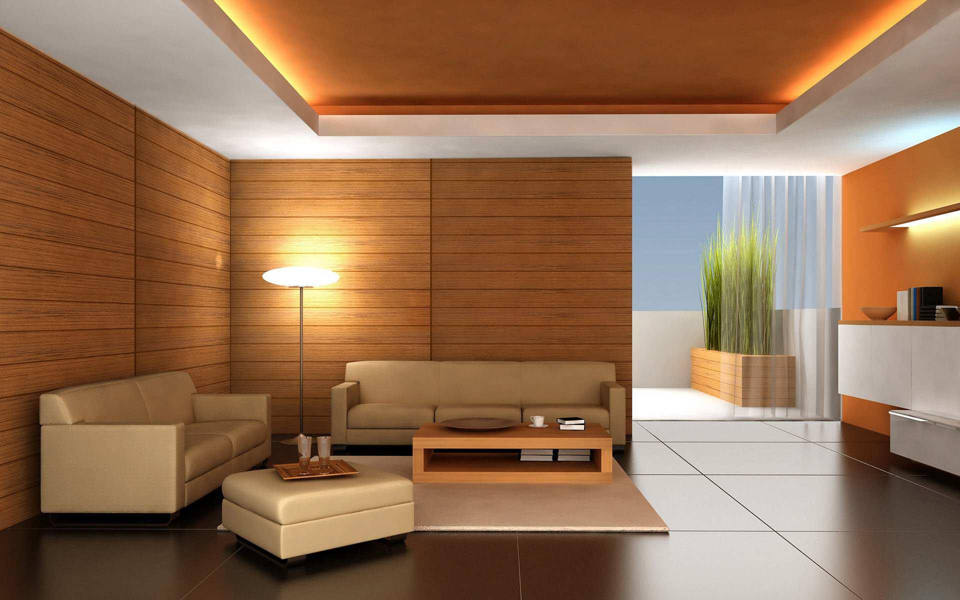 Дизайн стен и потолка комнаты