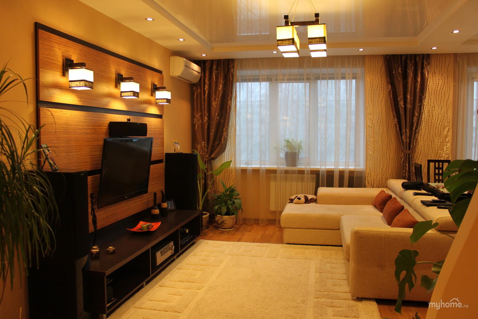 Дизайн гостиной в доме своими руками