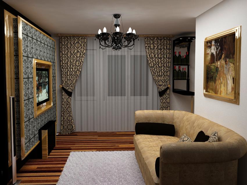 Интерьер зала в квартире двухкомнатной фото