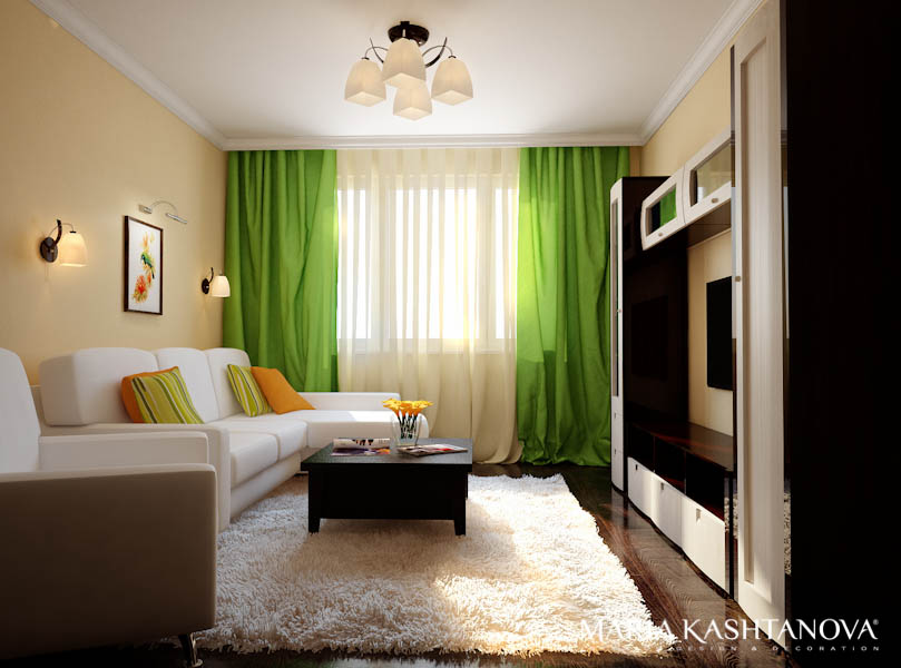 Дизайн комнаты 17 кв.м в однокомнатной квартире с ребенком