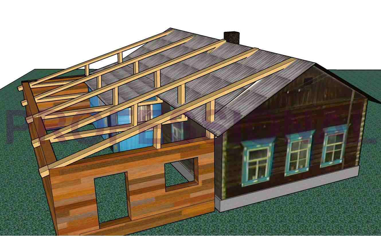 Пристройка к деревянному дому: проекты.