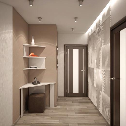 Дизайн прихожей в стиле хай тек в квартире