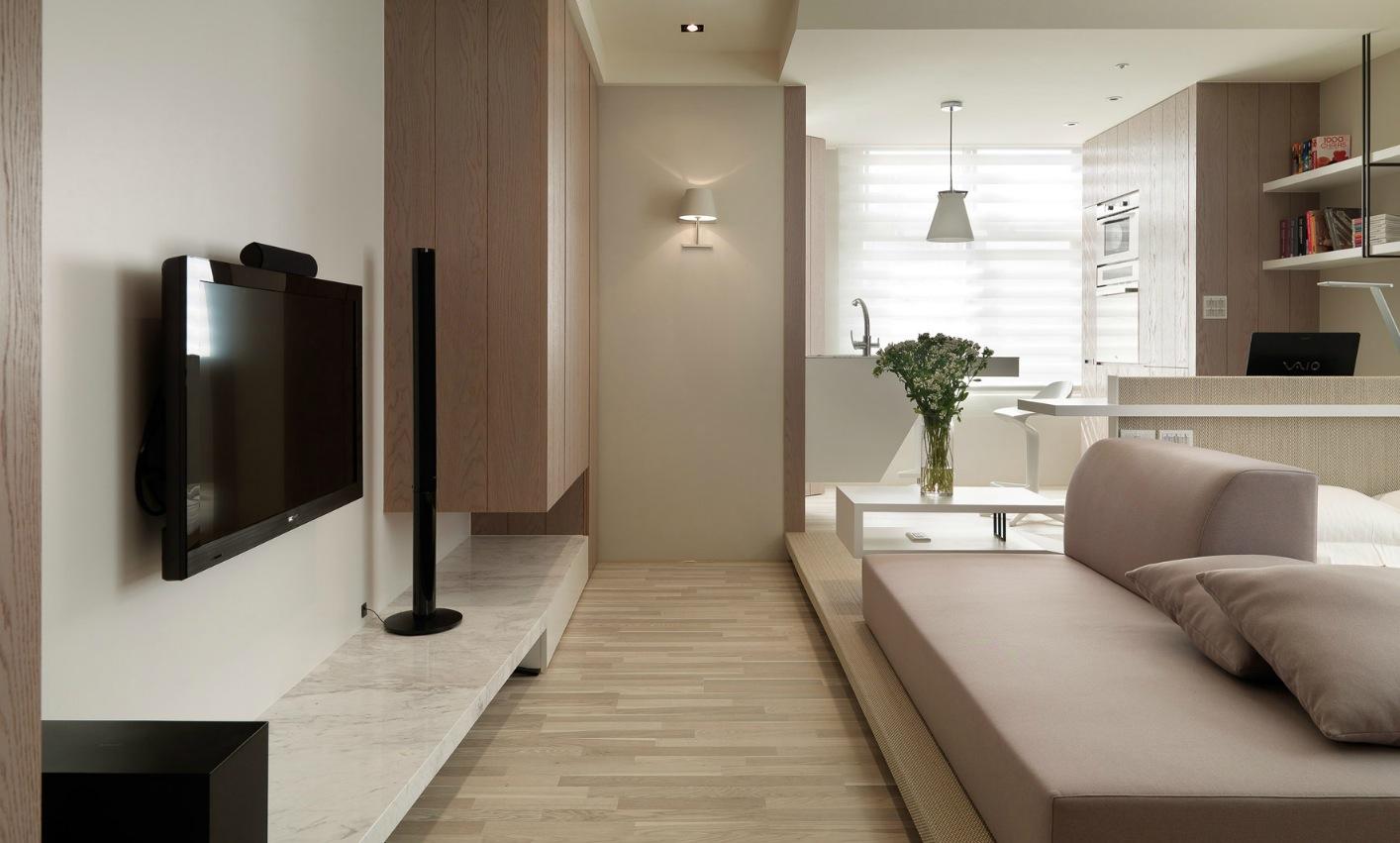 Интерьер для однокомнатной маленькой квартиры фото