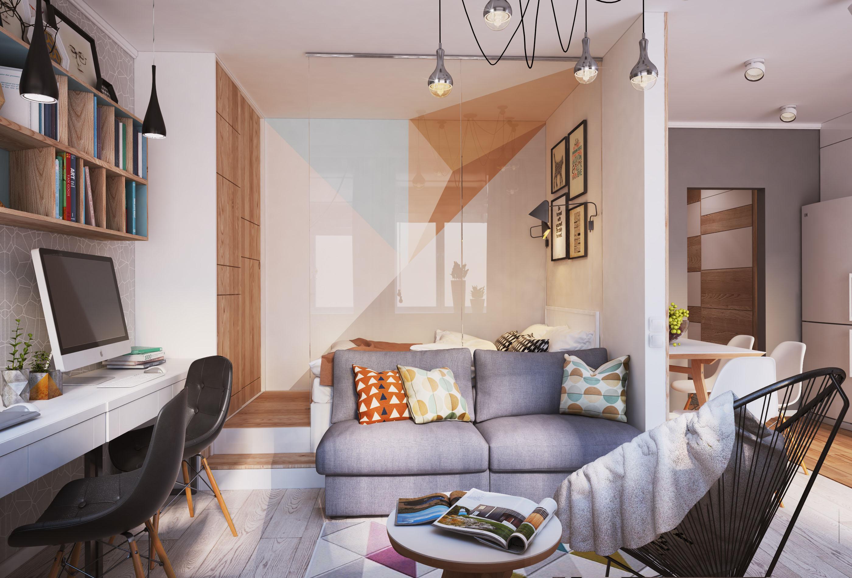 Дизайн интерьера квартира 40 кв м
