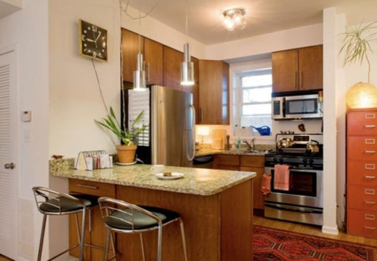 Малогабаритные кухни дизайн с барной стойкой фото