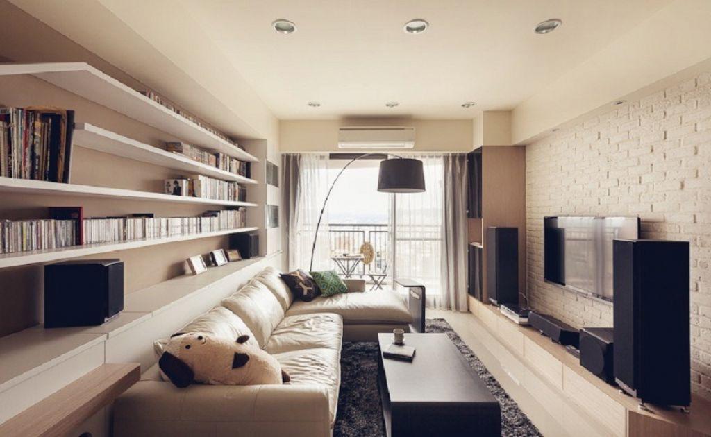 Узкая и длинная гостиная дизайн
