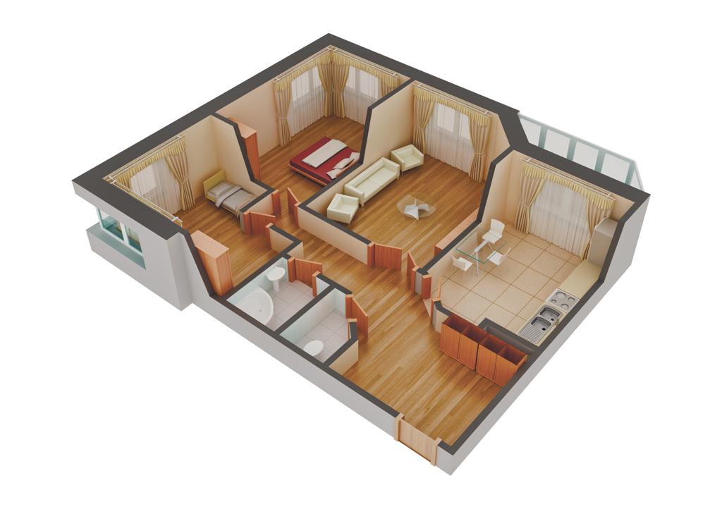 Р таким планом 2-комнатной