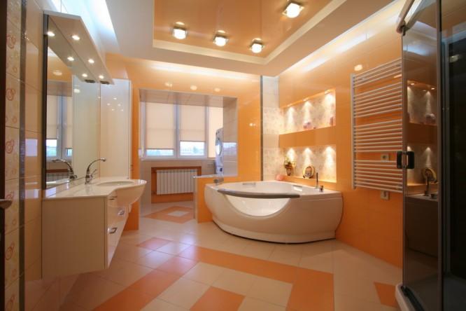 Ванная дизайн потолок
