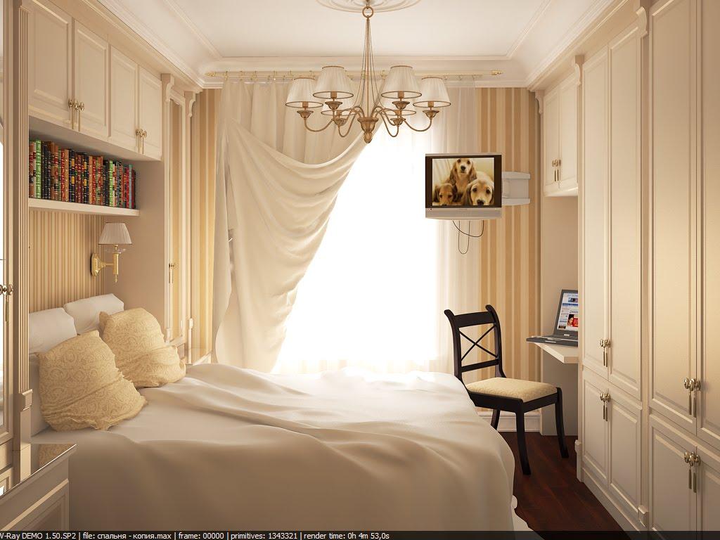 Дизайн для спальни в маленькой квартире в хрущевке