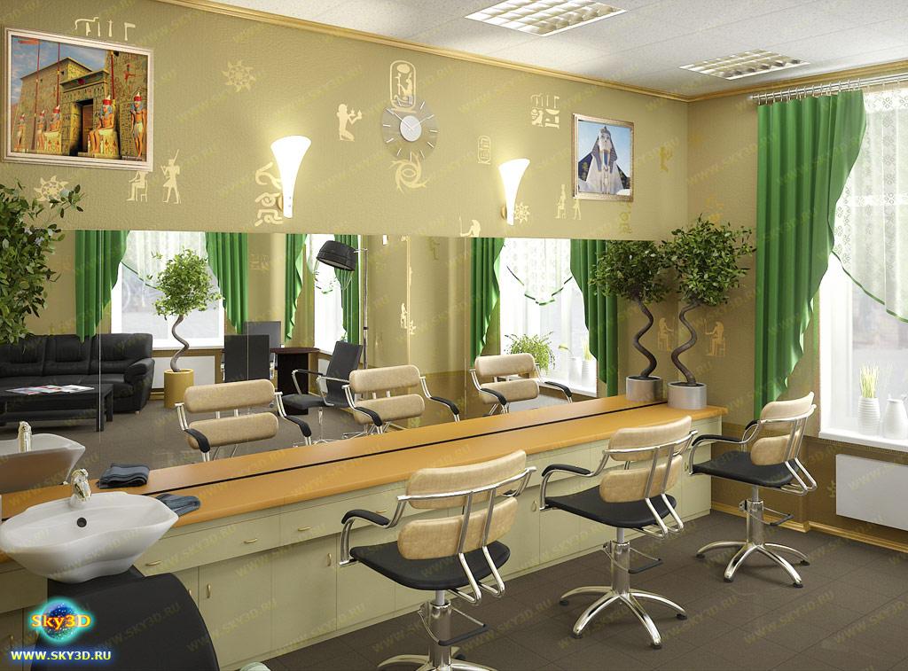 Дизайны салонов парикмахерских