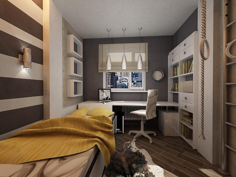 Дизайн маленькой комнаты для юноши 25 лет