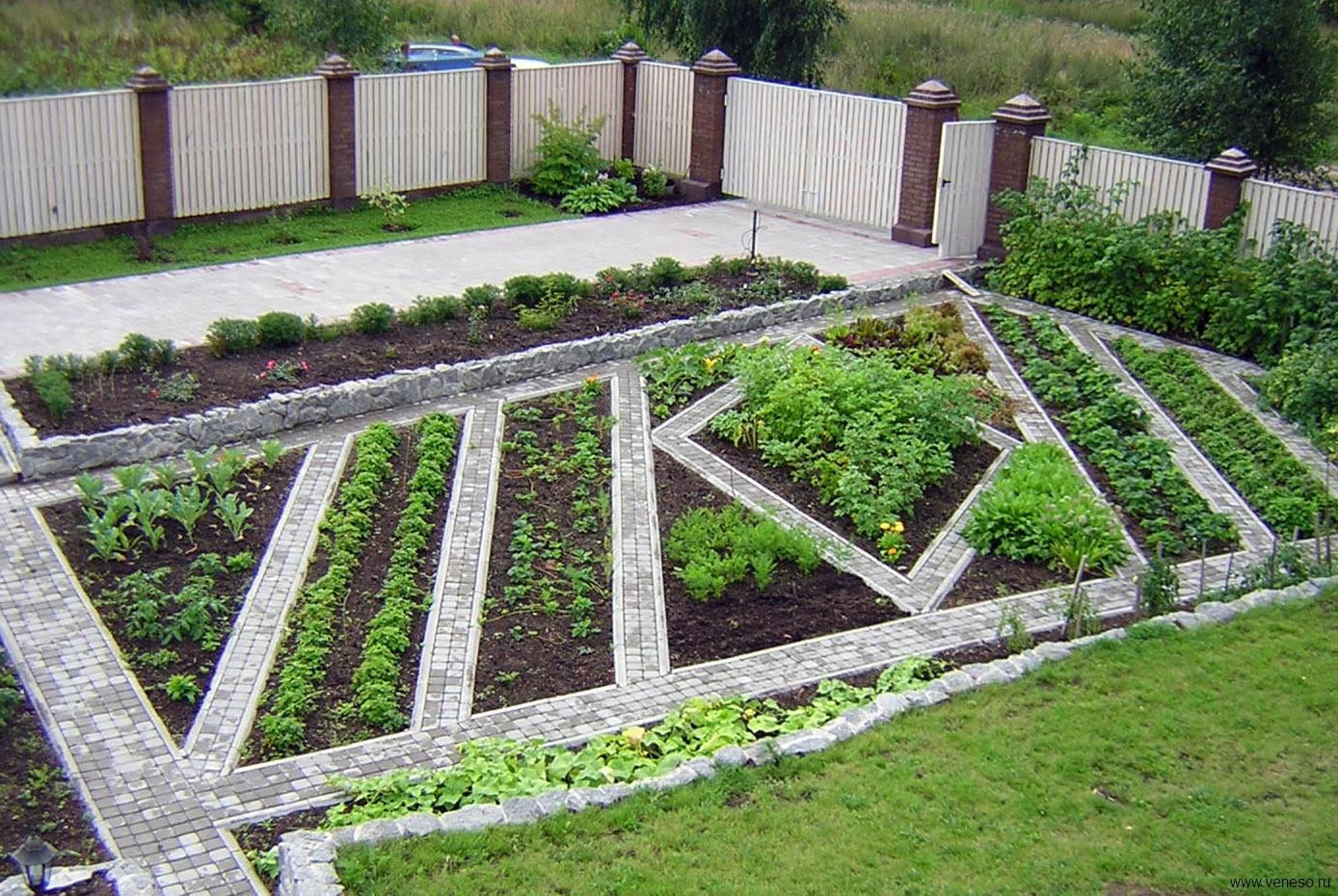 Ландшафтный дизайн с огородом