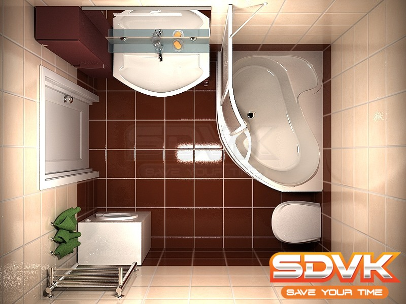 Дизайн маленьких ванных комнат с угловой ванной фото