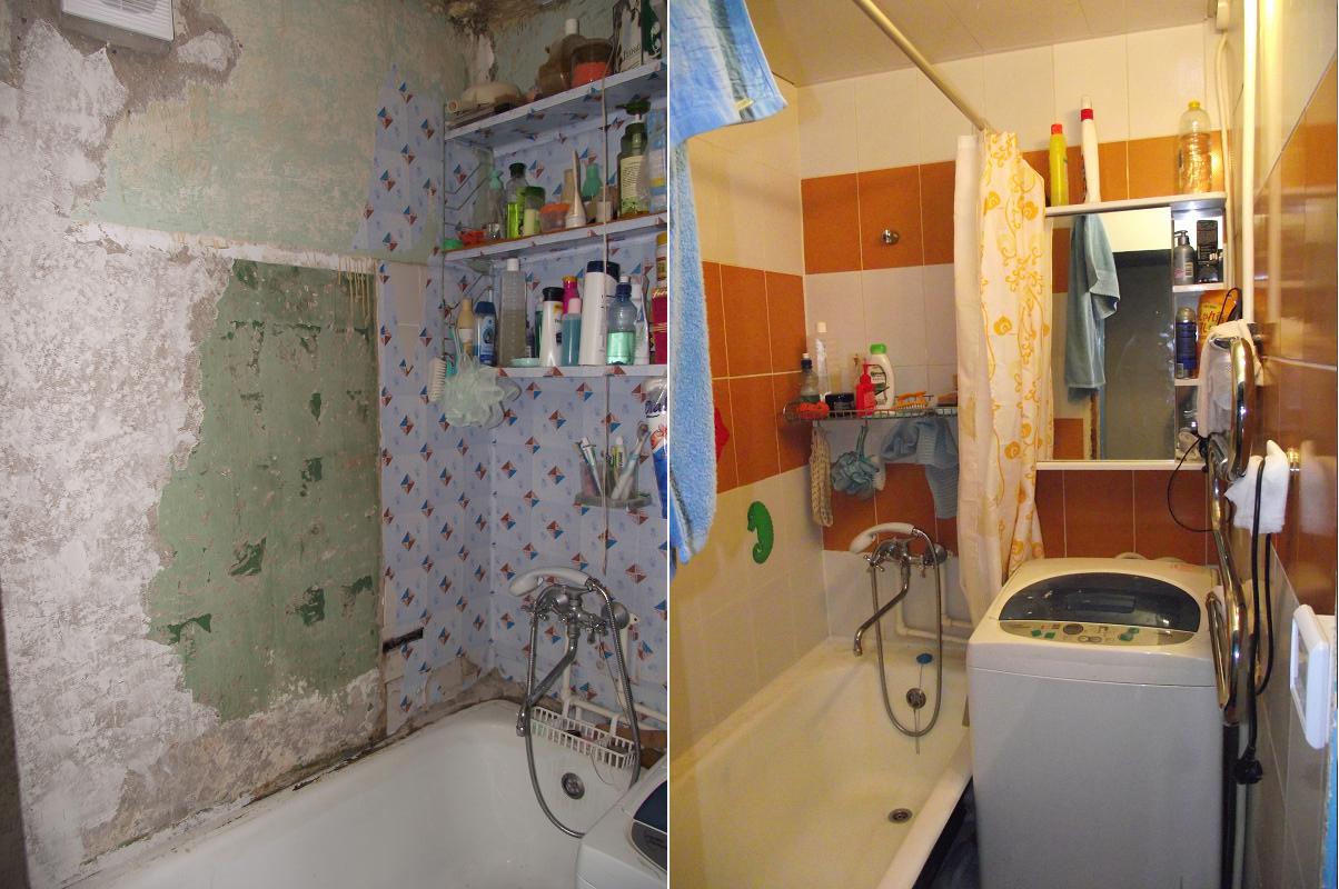 Ремонт ванны и туалета недорого своими руками 710