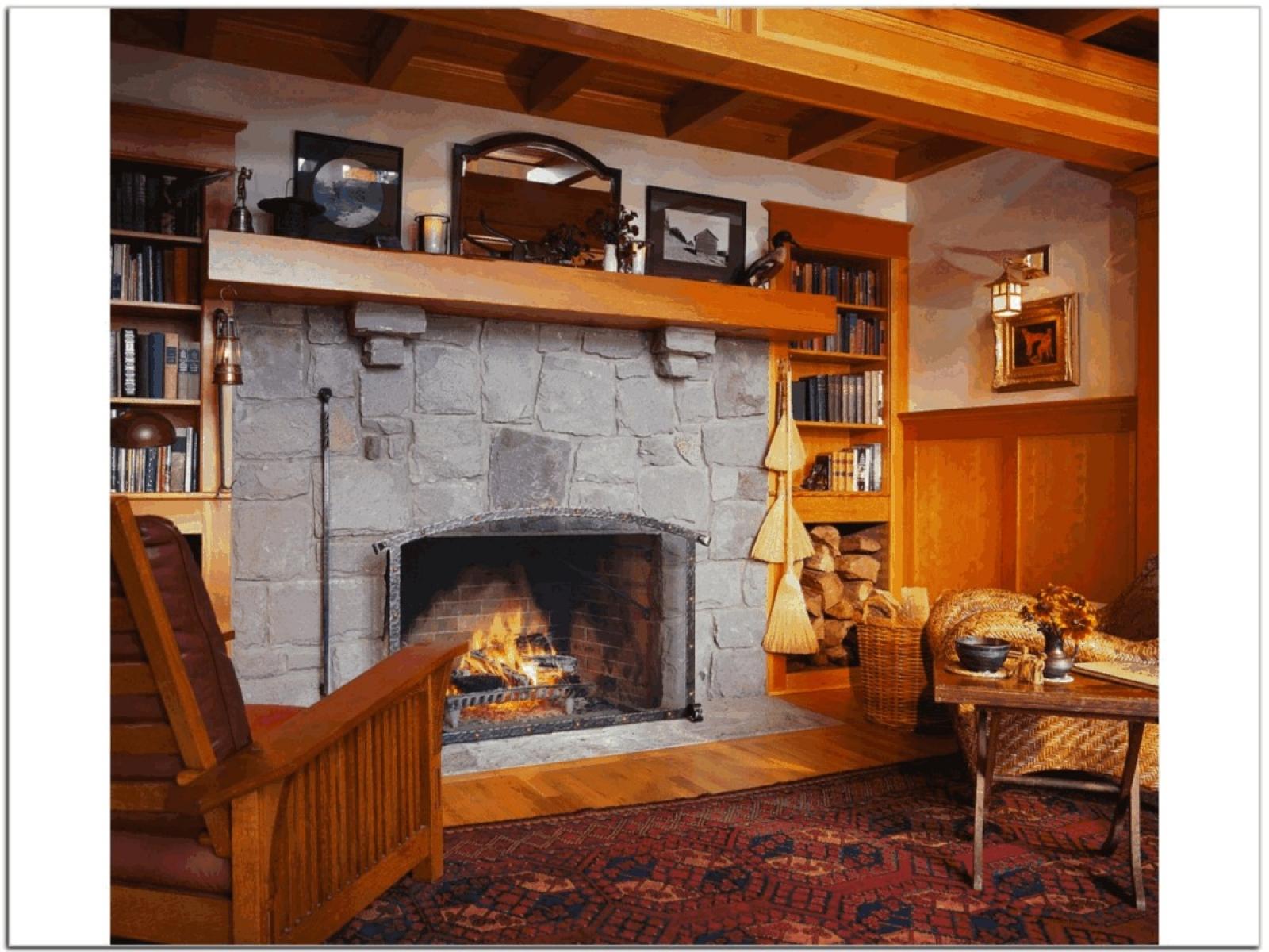интерьер каминных комнат фото