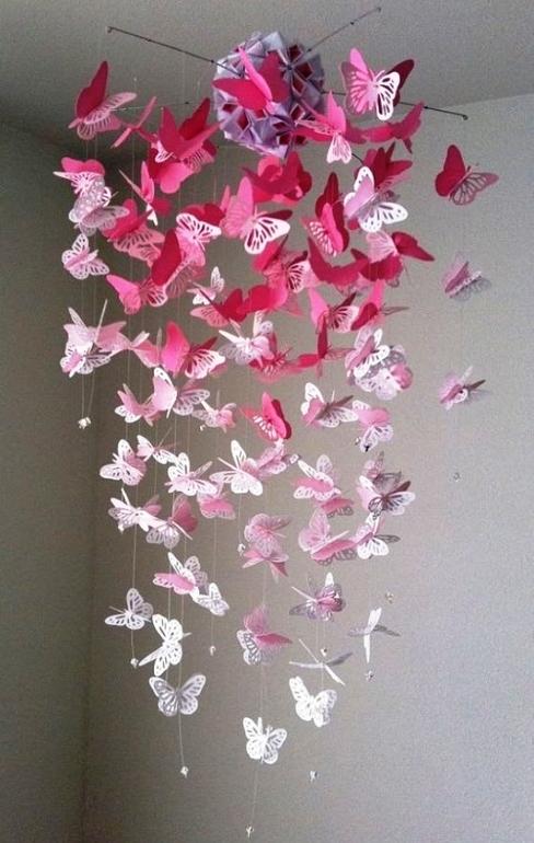 На потолок своими руками бабочки