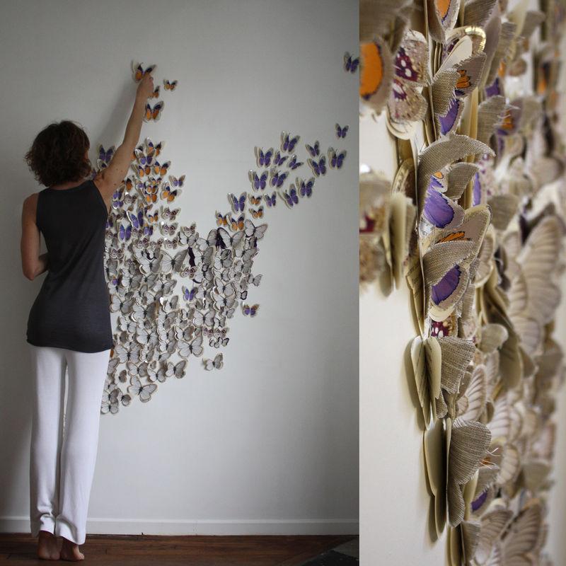 Декорирование стен своими руками и подручными средствами фото