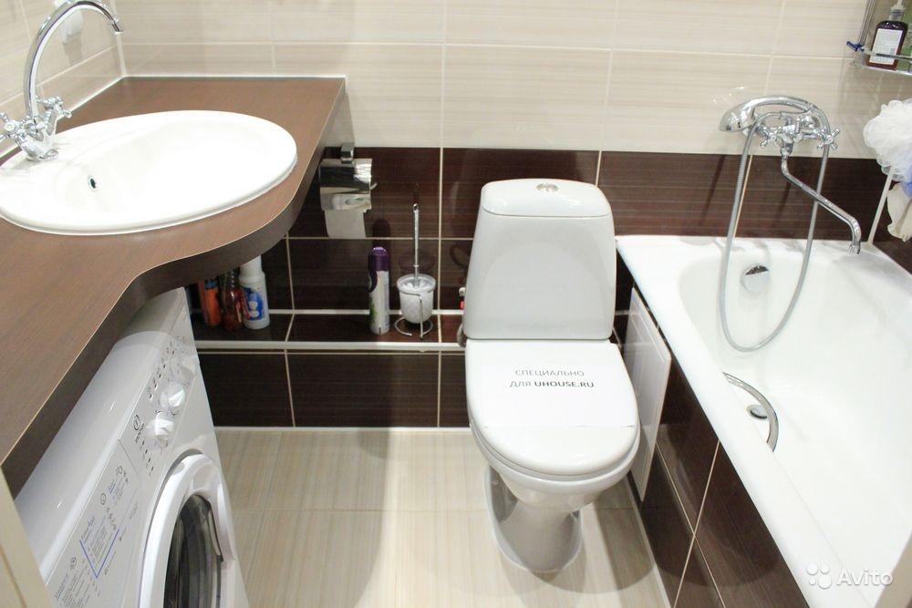 Совмещённый санузел с ванной на 3 кв.м