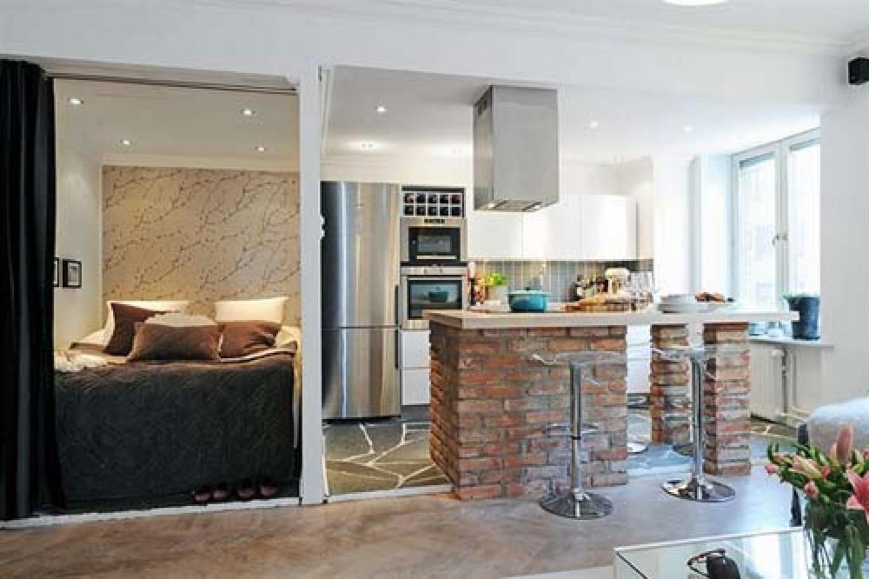 Возможно ли из кухни сделать спальню в однокомнатной комнате (фото) 83
