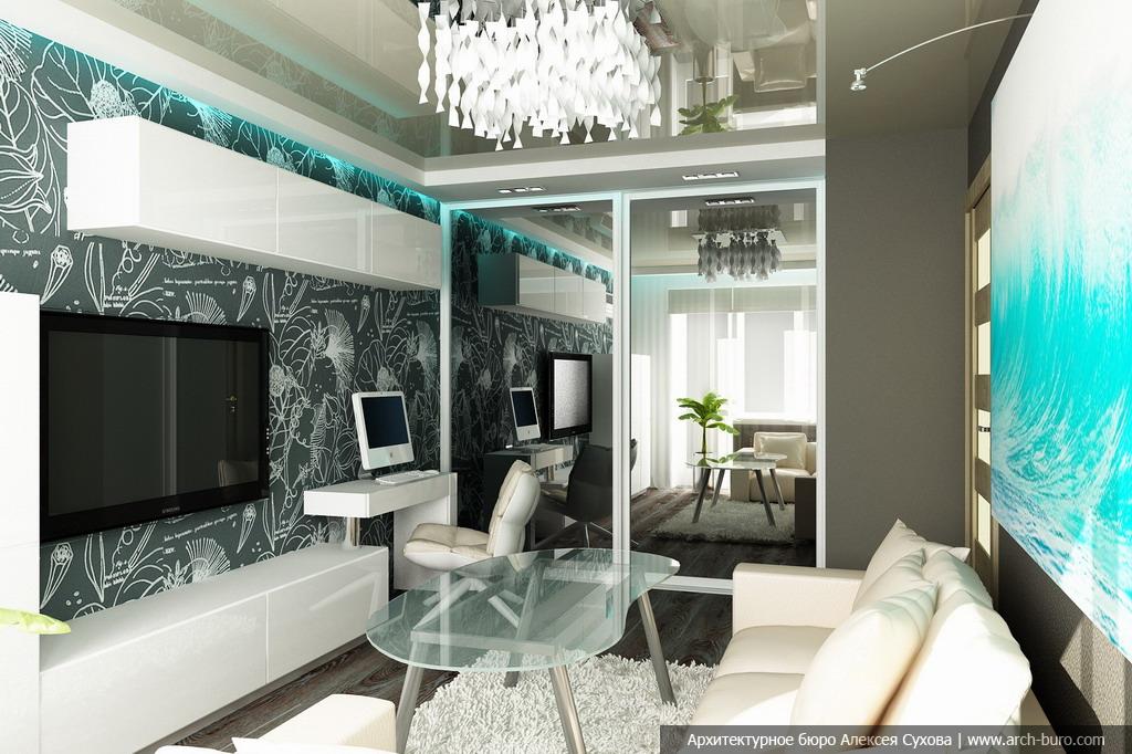 Современные интерьеры малогабаритных квартир фото