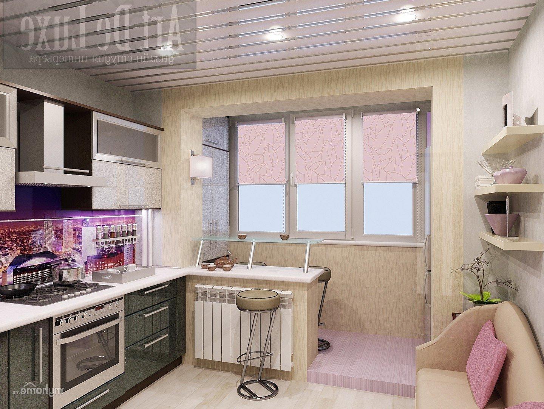 Как сделать кухню вместе с балконом