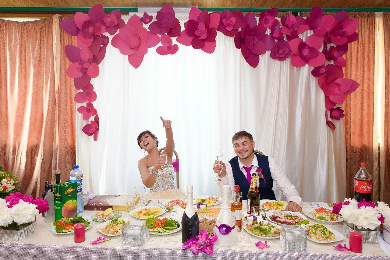 Как украсить своими руками зал свадебный