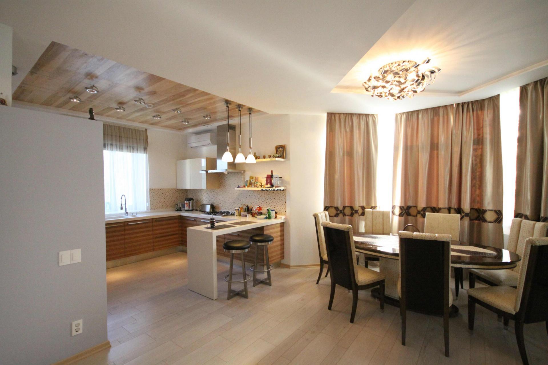Кухня-студия в частном доме фото дизайн интерьера