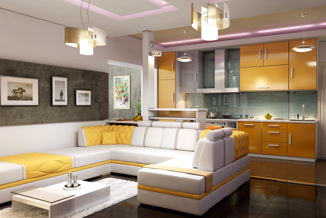 Кухни студия интерьер и дизайн фото