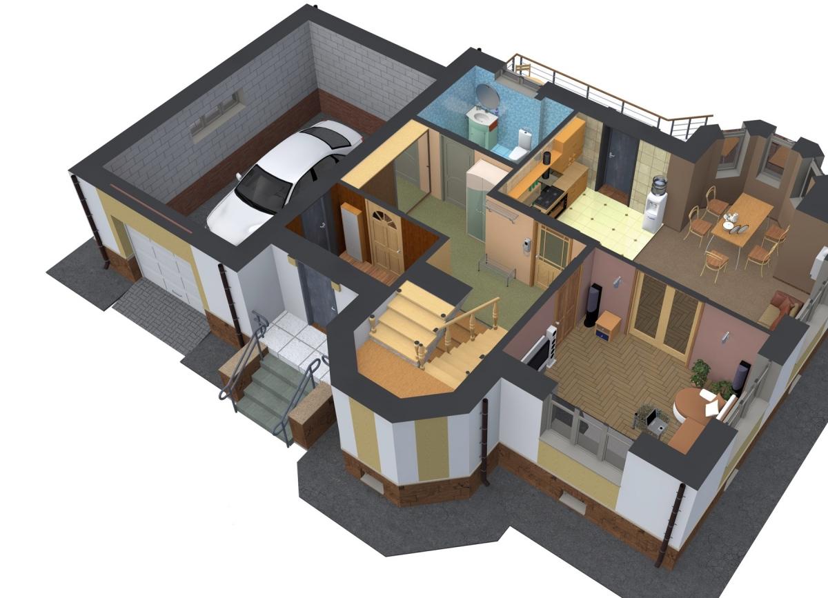432Интерьер комнат с планом