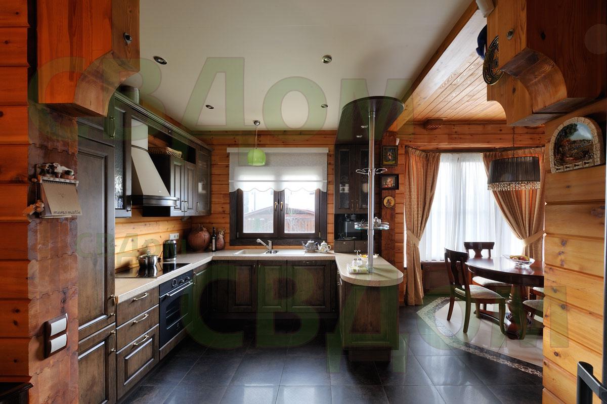 Фото Дизайн интерьеров домов из бруса 150
