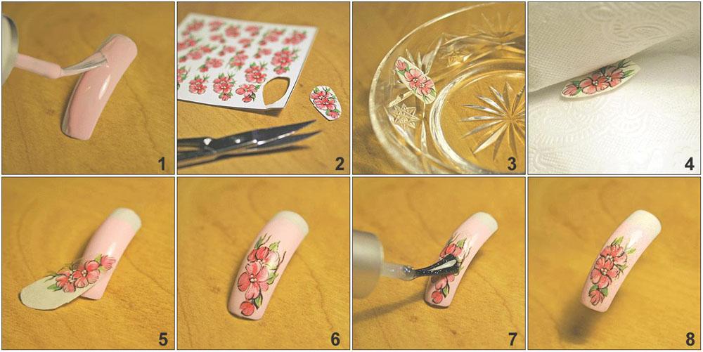 Последовательность дизайна ногтей